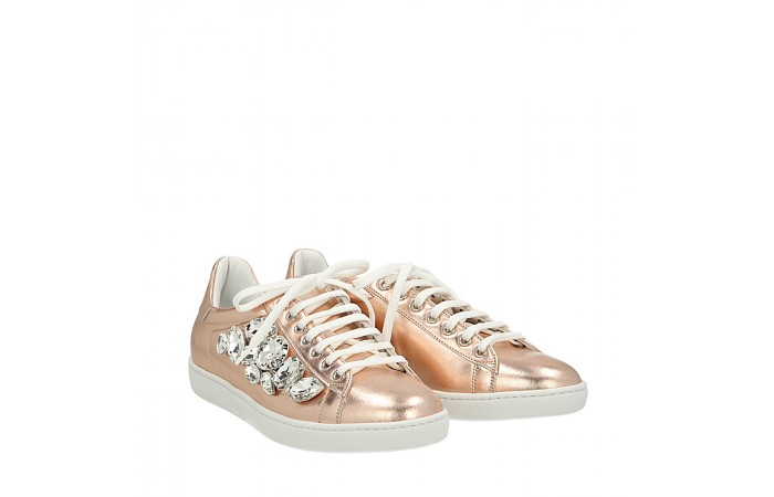 Pink gold stones Mower sneakers