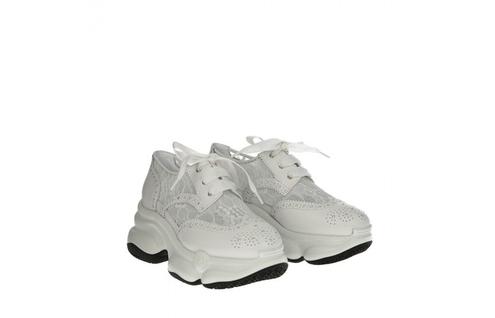 White lace Ugly sneakers