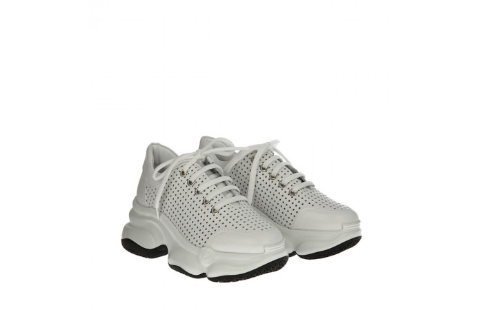 White calfskin Ugly sneakers