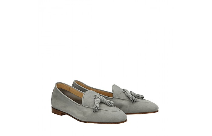 Grey suede Dandy loafers