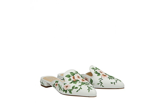 White flowers Nikki mules