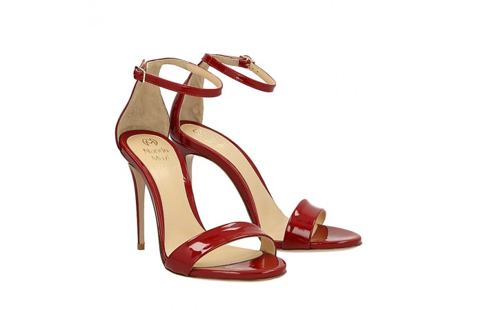 Red patent Bri sandals