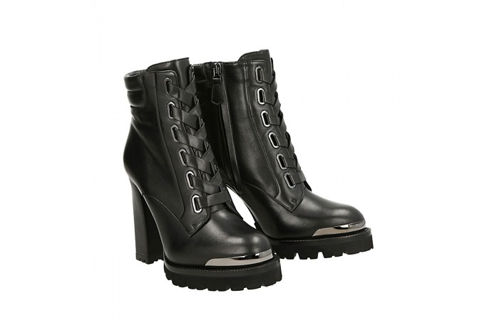 Black napa top Simon half boots