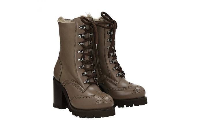 Dove grey urban half boots