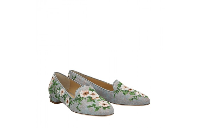 Flowers jeans Pam moccasins
