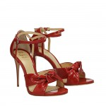 Bow red patent Bri sandals