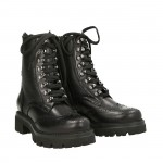 Black calfskin Laia hiking boots