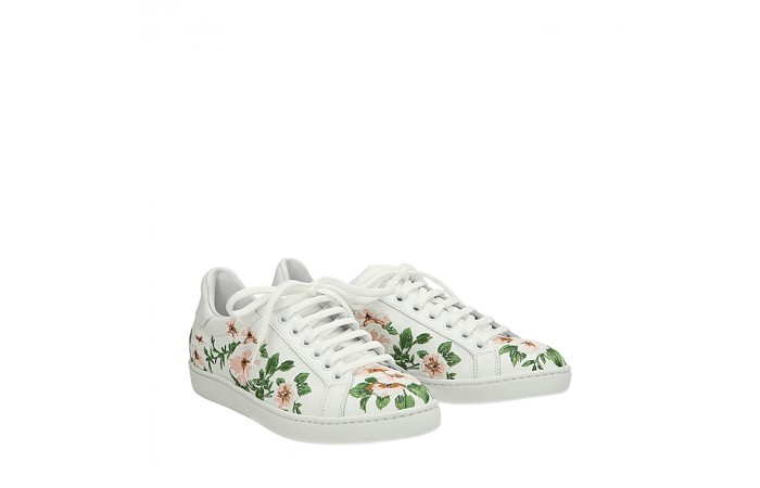White flowers Mower sneakers