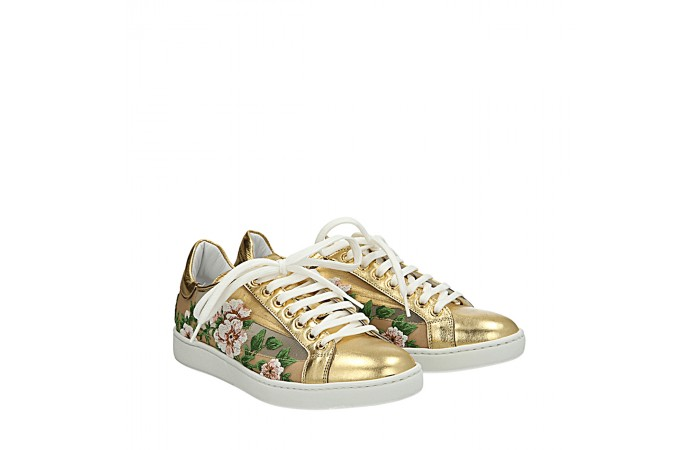 Gold flowers Mower sneakers
