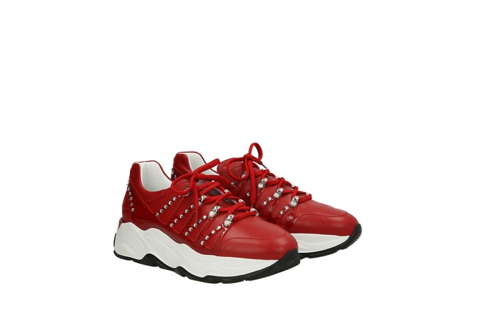 Red Roundup sneakers