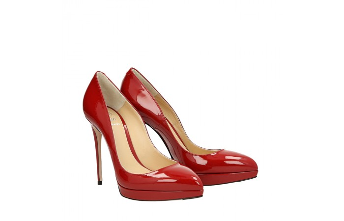 Top Hollywood red patent leather pumps