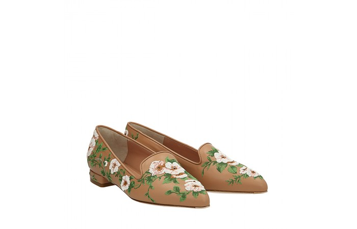 Nude flowers Nikki loafers