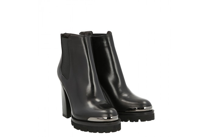 Top simon ankle boot black leather