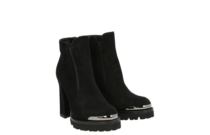 Top simon ankle boot black suede