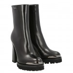 Top simon half boot black leather