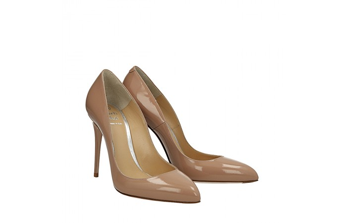 Nude patent Top pumps