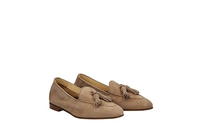 Light brown  suede Dandy loafers