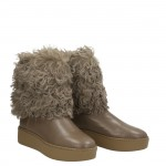 Dove grey napa half boots