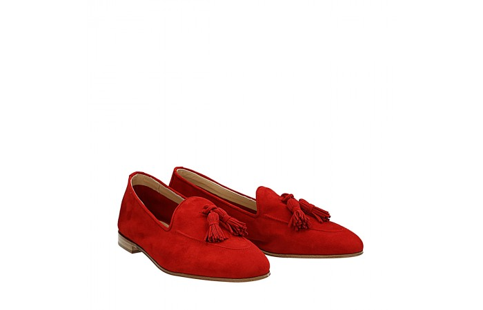 Red suede Dandy loafers