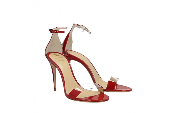 Patent red leather Me sandals