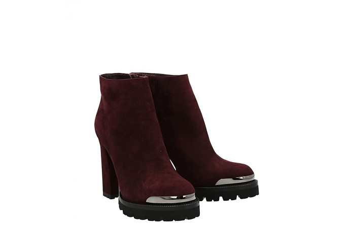 Top simon ankle boot burgundy suede
