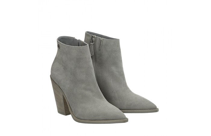 Grey suede Dallas texan ankle boots