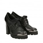 Black calfskin top Simon shoes