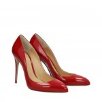 Red patent Top pumps