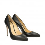 Black napa Top pumps