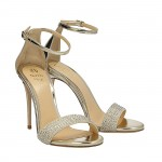 Golden mirrored leather Bri sandals