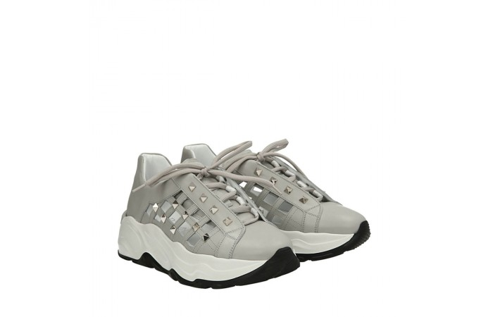 Studded grey Roundup sneakers