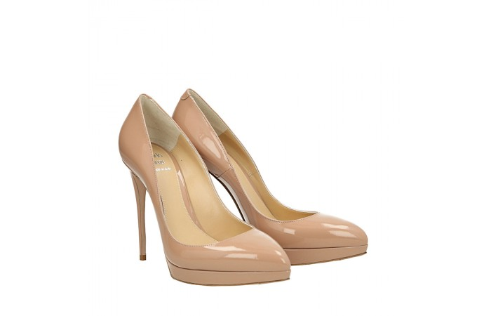 Top Hollywood nude patent leather pumps