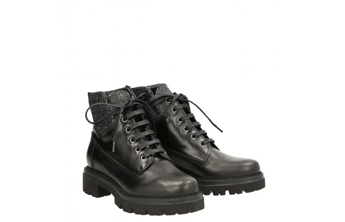 Black calfskin Laia Ankle boots