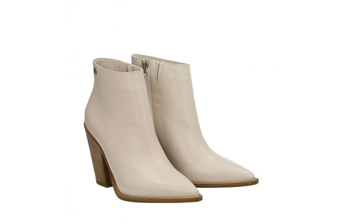 Pink napa Dallas texan ankle boots