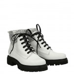 White calfskin Laia Ankle boots