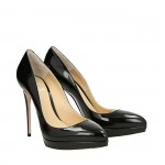 Top Hollywood black patent leather pumps