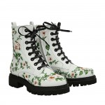 White flowers Laia half boots