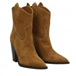 Tobacco suede Dallas texan ankle boots