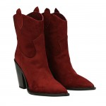 Bordeaux  suede Dallas texan ankle boots