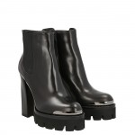 Top rider ankle boot black leather