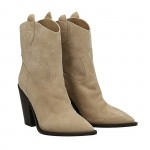 Beige  suede Dallas texan ankle boots